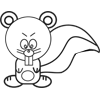 Angry Squirrel Coloring Page