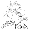 Coloring Page: Apple Tree