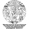Nativity Tradional with Bible Verse Coloring Page