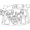 Coloring Page: Nativity