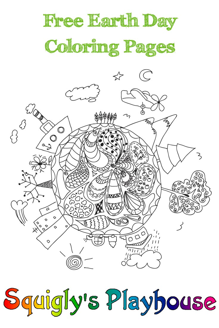 earth day coloring pages at squigly u0027s playhouse