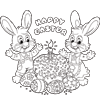 Coloring Page of Happy Easter