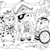 Coloring Page: Halloween Party