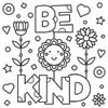 Coloring Page of Be Kind