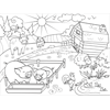 At The Farm Coloring Page