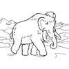 Coloring Page of Mammoth