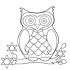 Coloring Pages: Owl