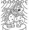 Coloring Page of Pretty Pony