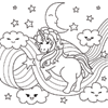 Coloring Page of Unicorn