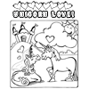 Coloring Page: Unicorn Love