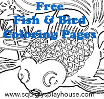 Bird and Fish Coloring Pages
