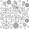 Coloring Page: Spring!