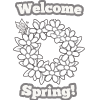 Coloring Pages: Welcome Spring