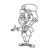 Coloring Page: Smiling Leprechaun