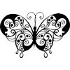 Coloring Page of Artistic Butterfly