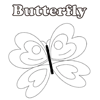 Coloring Page of Pretty Butterfly