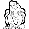 Coloring Page of Clown
