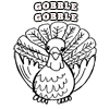 Coloring Page of Gobble Gobble