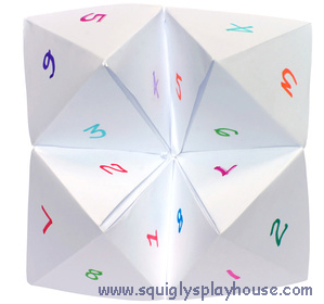 how to create a paper chatterbox
