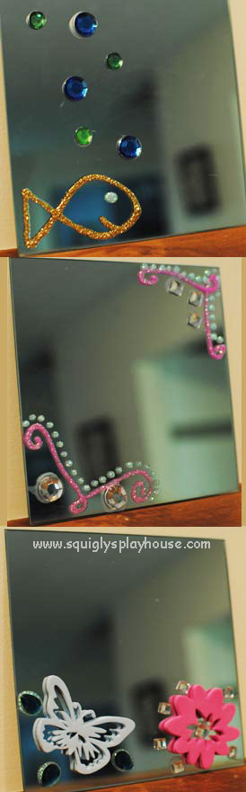 Craft: Decorated Mirrors