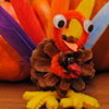 Craft: Pine Cone Turkeys