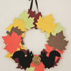 Fall Craft: Leaf Wreath