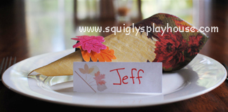 Autumn Craft: Printable Name Place Settings