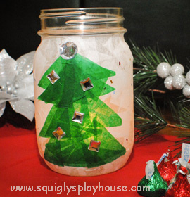 Christmas Craft: Christmas Tree Light