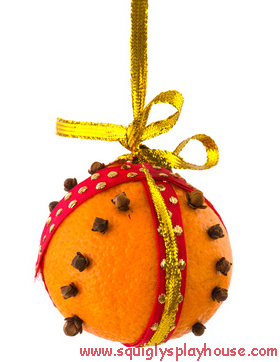Christmas Craft: Orange Pomander