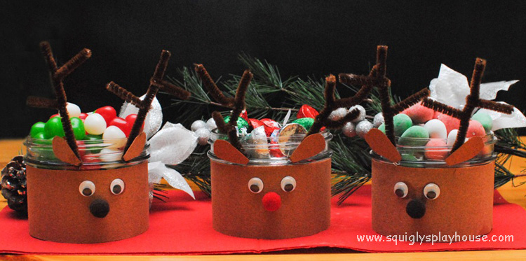 christmas craft reindeer candy dishes