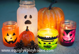 Halloween Craft: Glowing Monster Jars