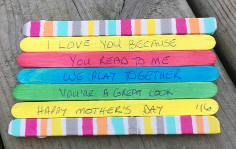 Mother's Day Craft: I Love You Fridge Magnet