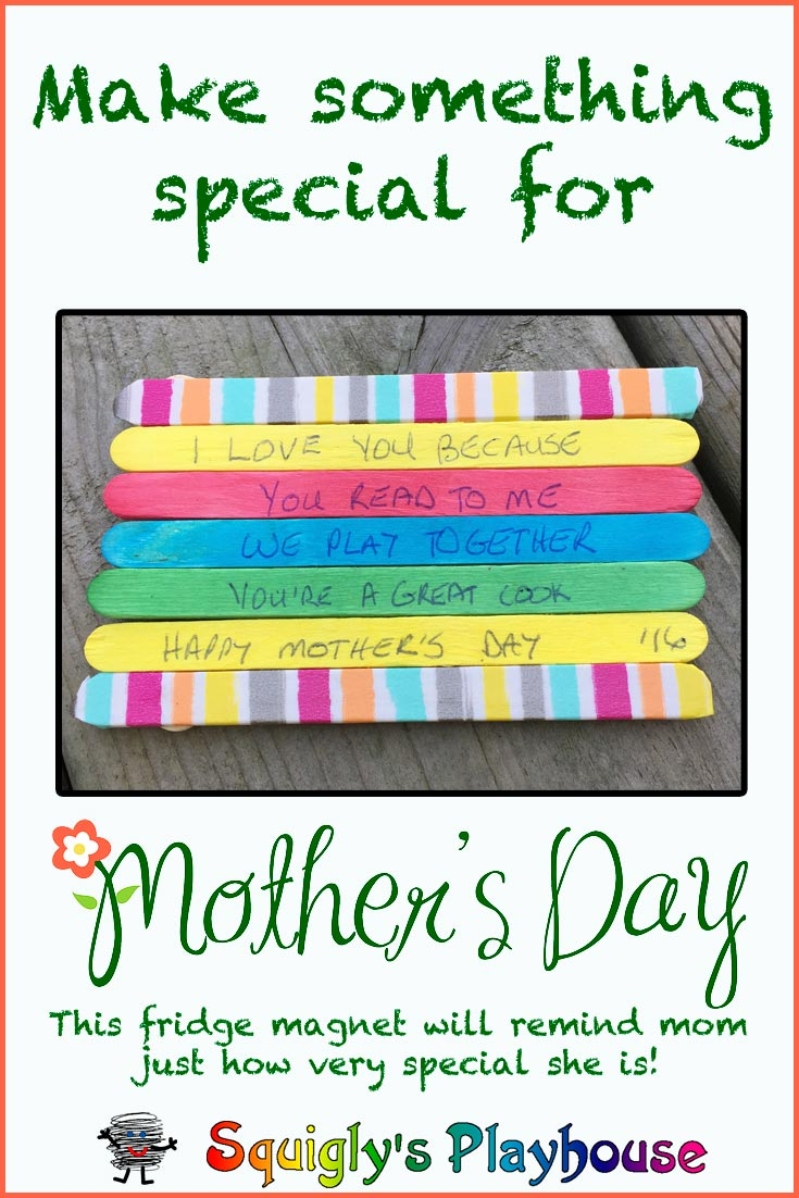 Make an I Love You Fridge Magnet for Mom this Mother's Day!