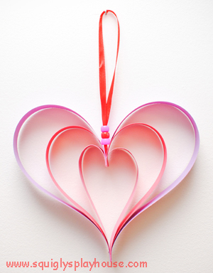 Valentine's Day Craft: Heart Shadows