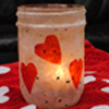 Valentine Candle Holder Craft
