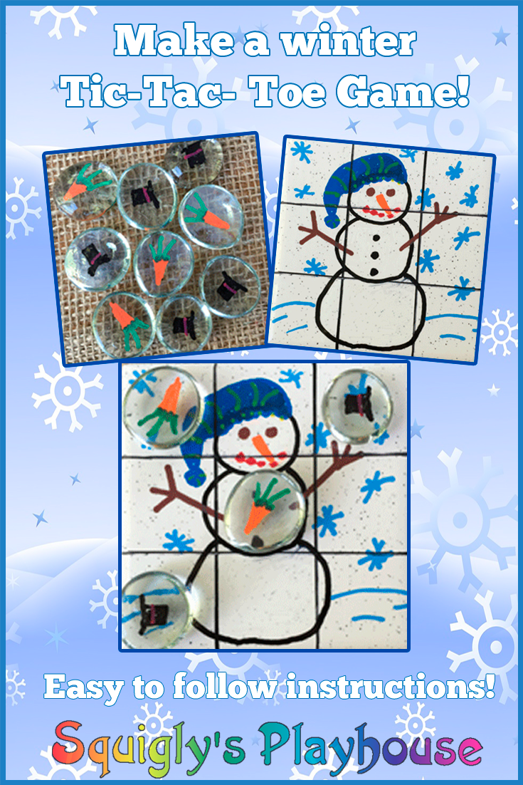 When it's too cold to play outside make this fun Winter Tic-Tac-Toe game. A fun craft that will provide hours of game play fun for the whole family. Easy to follow craft instructions!