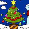 Coloring Game: Christmas Tree Coloring