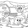 Coloring Page of My Backyard