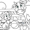 Coloring Page of Farm
