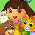 Dress Up Game: Dora Pet Care
