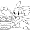 Coloring Page of Easter Day Celebration