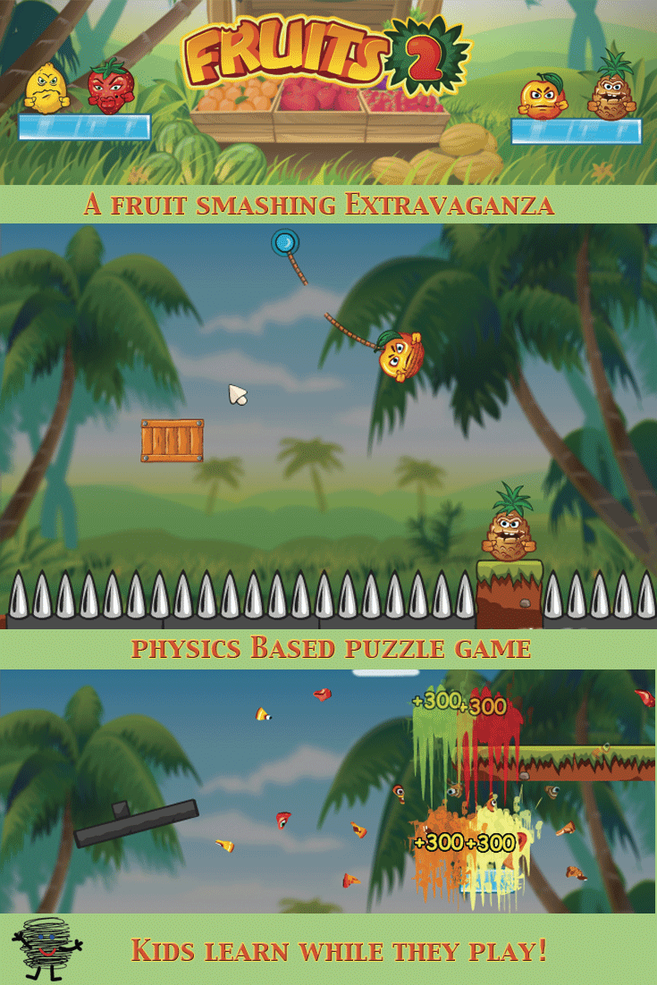 Online Puzzle Game: Fruits 2