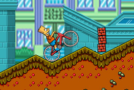 Online Bike Game: Bart on Bike
