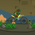 Racing Game: Ninja Turtle Bike