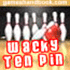 Online Sports Game: Wacky ten pin bowling