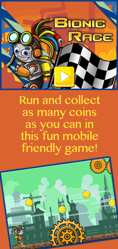 Run and collect as many coins as you can in this fun, free mobile game game for kids of all ages!