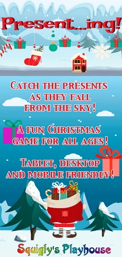 A fun Christmas game for kids and adults alike. Catch the presents as they fall of out of the sky. This game is desktop, tablet and mobile friendly!