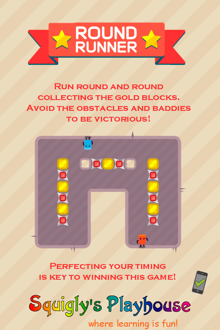 Round Runner is a fun puzzle action game that is compatible for desktop and mobile!