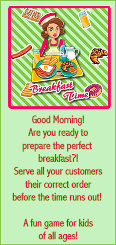 Prepare the perfect breakfast for your customers in this fun cooking game for kids of all ages! This game is mobile, tablet and desktop friendly!