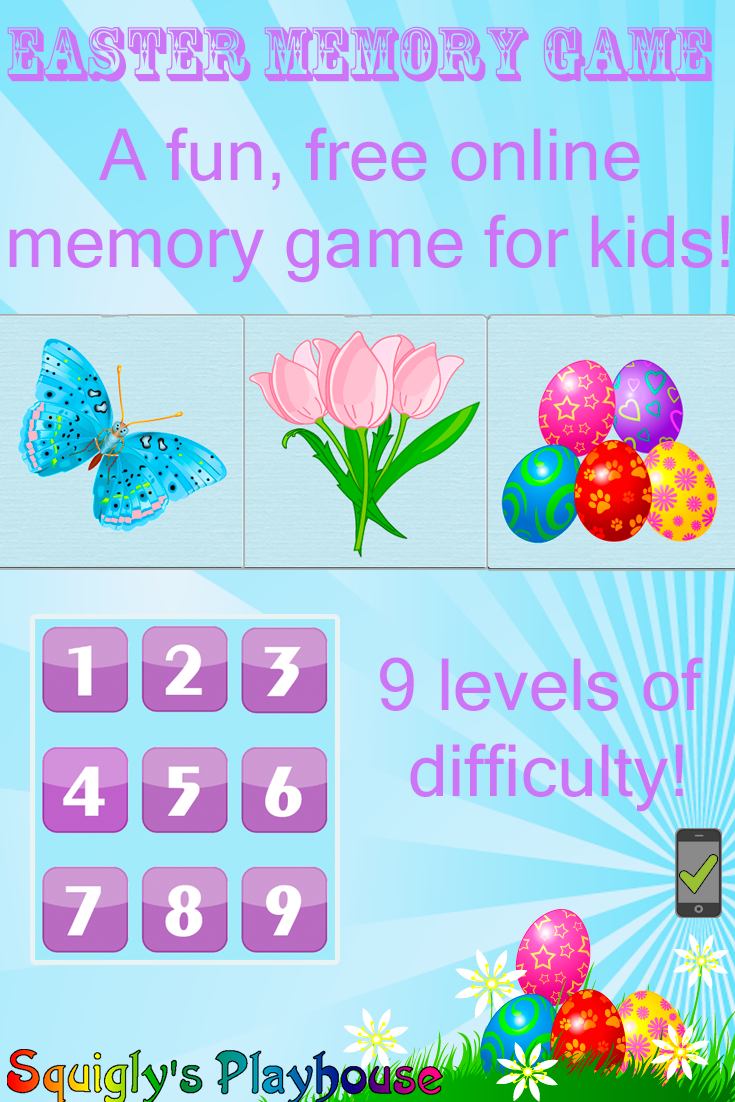 A fun memory game for kids. Easter Memory game!
